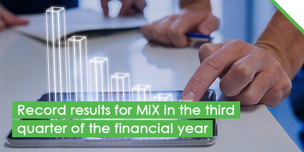 Record results for MiX in the third quarter of the financial year