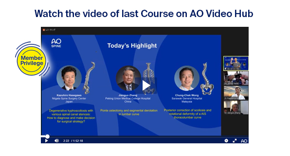 Watch the video of last course