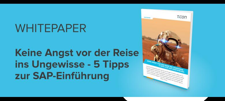 Whitepaper 5 Tipps zur SAP Einführung
