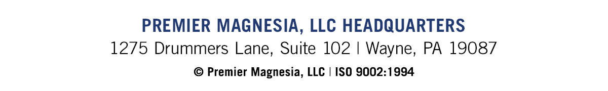 Premier Magnesia, LLC Headquarters | 1275 Drummers Lane, Suite 102 | Wayne, PA 19087