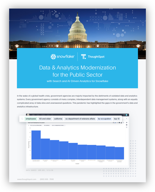 Data & Analytics Modernization for the Public Sector
