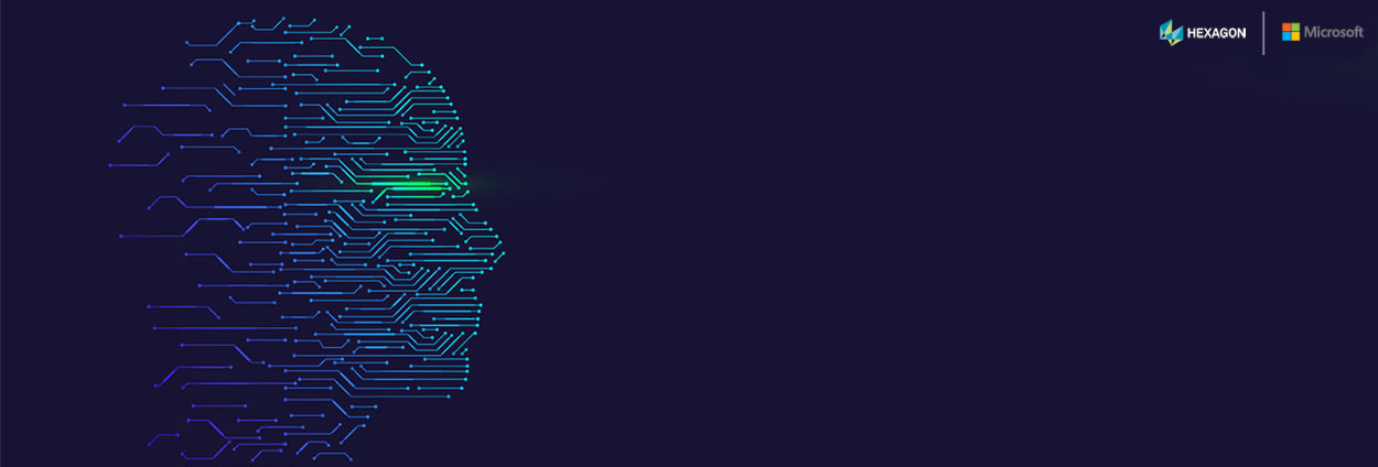 human head side profile silhouette formed by computer circuits