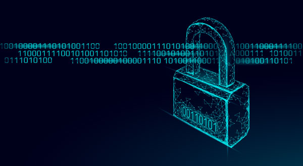 digital encryption graphic