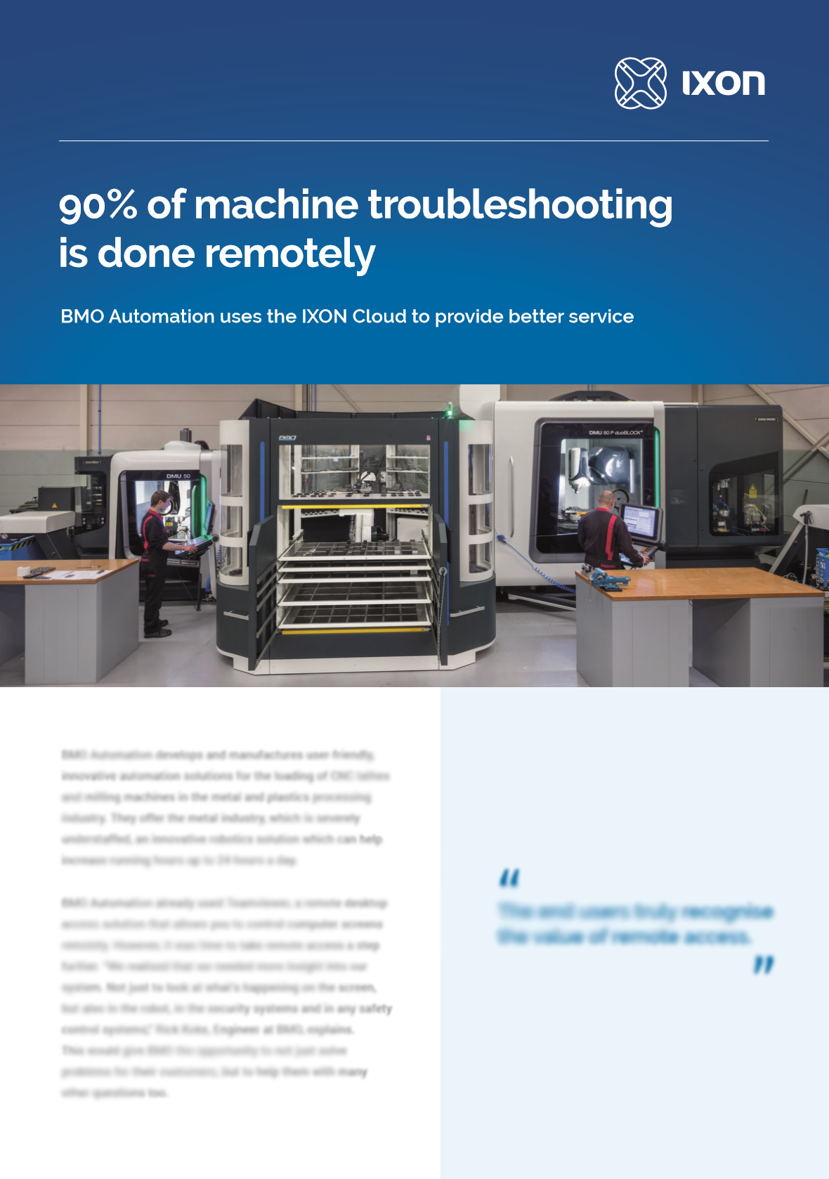 Case study BMO Automation & IXON Cloud