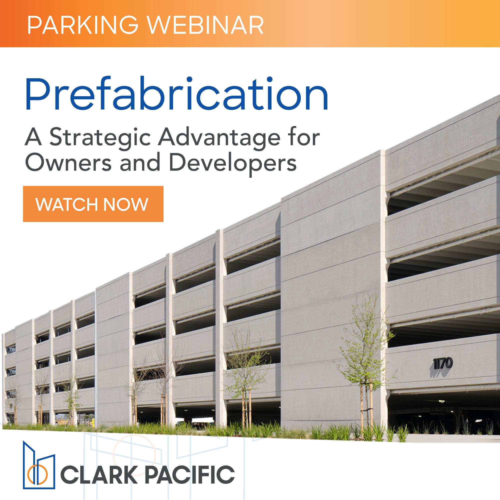 Watch our Prefabrication for parking webinar