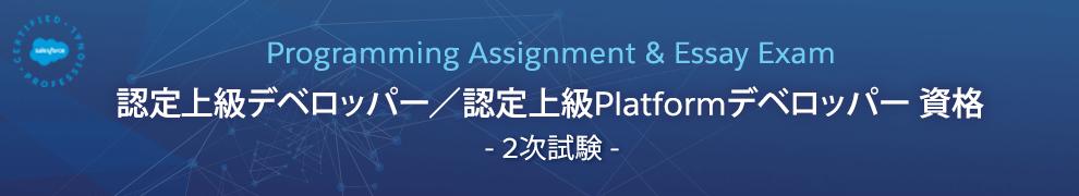 認定上級デベロッパー / 認定上級Platformデベロッパー 資格 -2次試験-