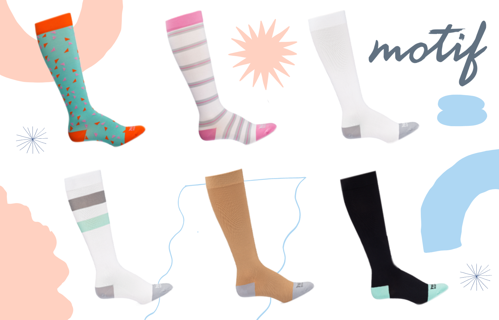 Motif Compression Socks