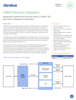 Download the HBM3 Memory Subsystem Solution Brief