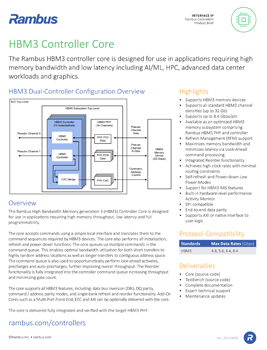 HBM3 Controller Product Brief