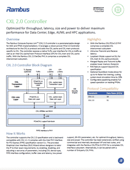 CXL 2.0 Controller Product Brief