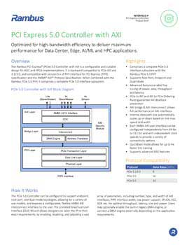 PCIe 5.0 Controller with AXI Product Brief