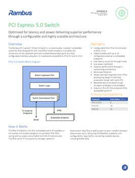 PCIe 5.0 Multi-port Switch Product Brief