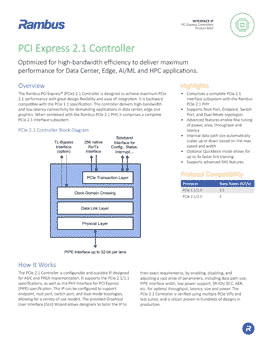 PCIe 2.1 Controller Product Brief