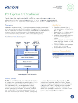 PCIe 3.1 Controller Product Brief