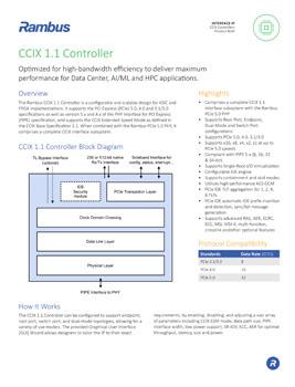 CCIX 1.1 Controller Product Brief