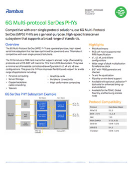 6G PHY Product Brief Cover