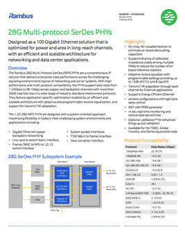 28G PHY Product Brief Cover