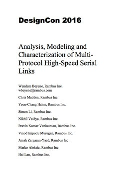 Analysis, Modeling and Characterization of Multi-Protocol High-Speed Serial Links white paper thumbnail