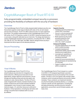 CryptoManager Root of Trust RT-610 Cover