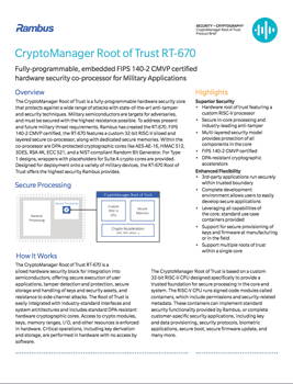 CryptoManager Root of Trust RT-670 Cover