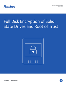 Full Disk Encryption of Solid State Drives and Root of Trust Cover