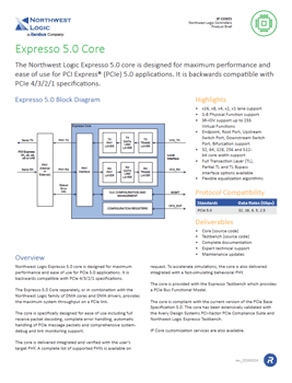 PCIe 5.0 Controller Product Brief Cover