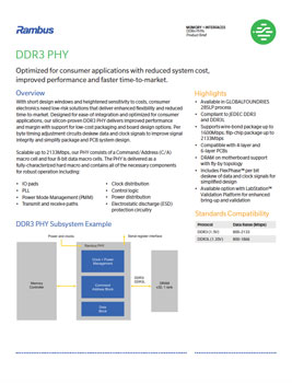 Download the Rambus DDR3 PHY Product Brief