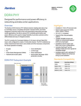 Download the Rambus DDR4 PHY Product Brief