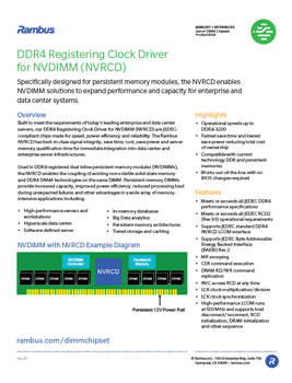 Download the Rambus NVRCD Product Brief
