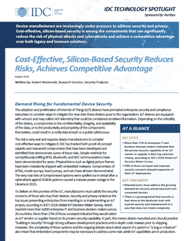 Download Cost-Effective, Silicon-Based Security Reduces Risks, Achieves Competitive Advantage