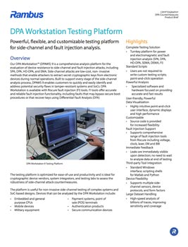 Download The DPA Workstation Testing Platform brief