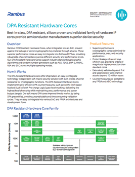 Download The DPA Resistant Hardware Cores brief