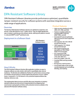 Download the DPA Resistant Software Library brief