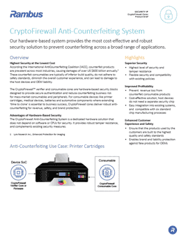 Download the CryptoFirewall Consumable Protection System brief