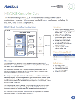 HBM2 Controller Product Brief Cover