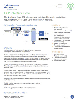 OCP Interface Core Product Brief