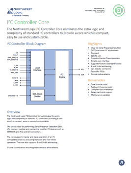 I2C Controller Product Brief