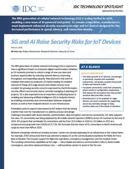 5G and AI Raise Security Risks for IoT Devices