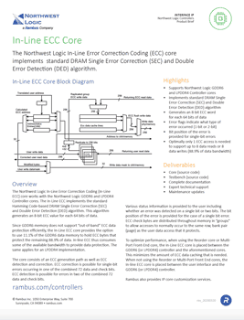 In-Line ECC Core Product Brief