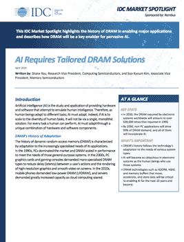 Download AI Requires Tailored DRAM Solutions