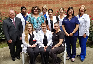 Group photo of staff at the North Baldwin Medical Center in South Alabama