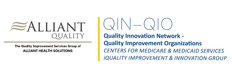 Quality Improvement Organizations logo co-branded with Alliant Quality logo
