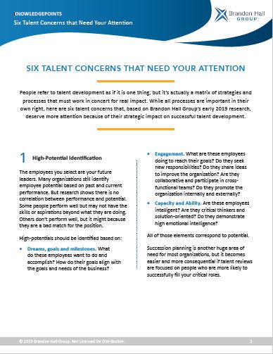 Six Talent Concerns that Need Your Attention (KnowledgePoints)
