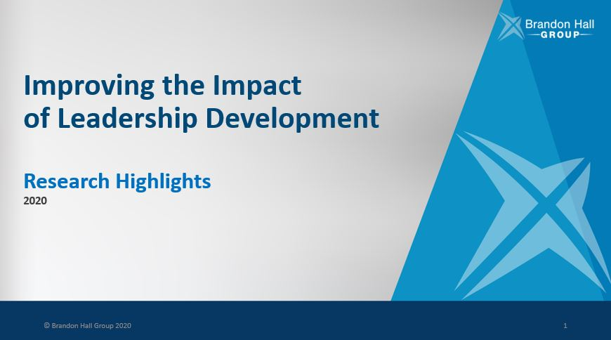 Improving the Impact of Leadership Development (Research Data Highlights)