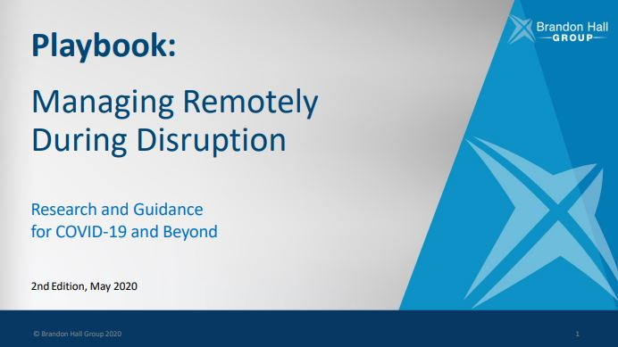 Playbook: Managing Remotely During Disruption (2nd Edition)