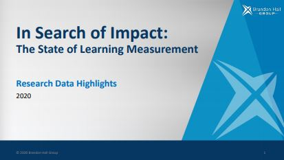 In Search of Impact: The State of Learning Measurement (Research Data Highlights)