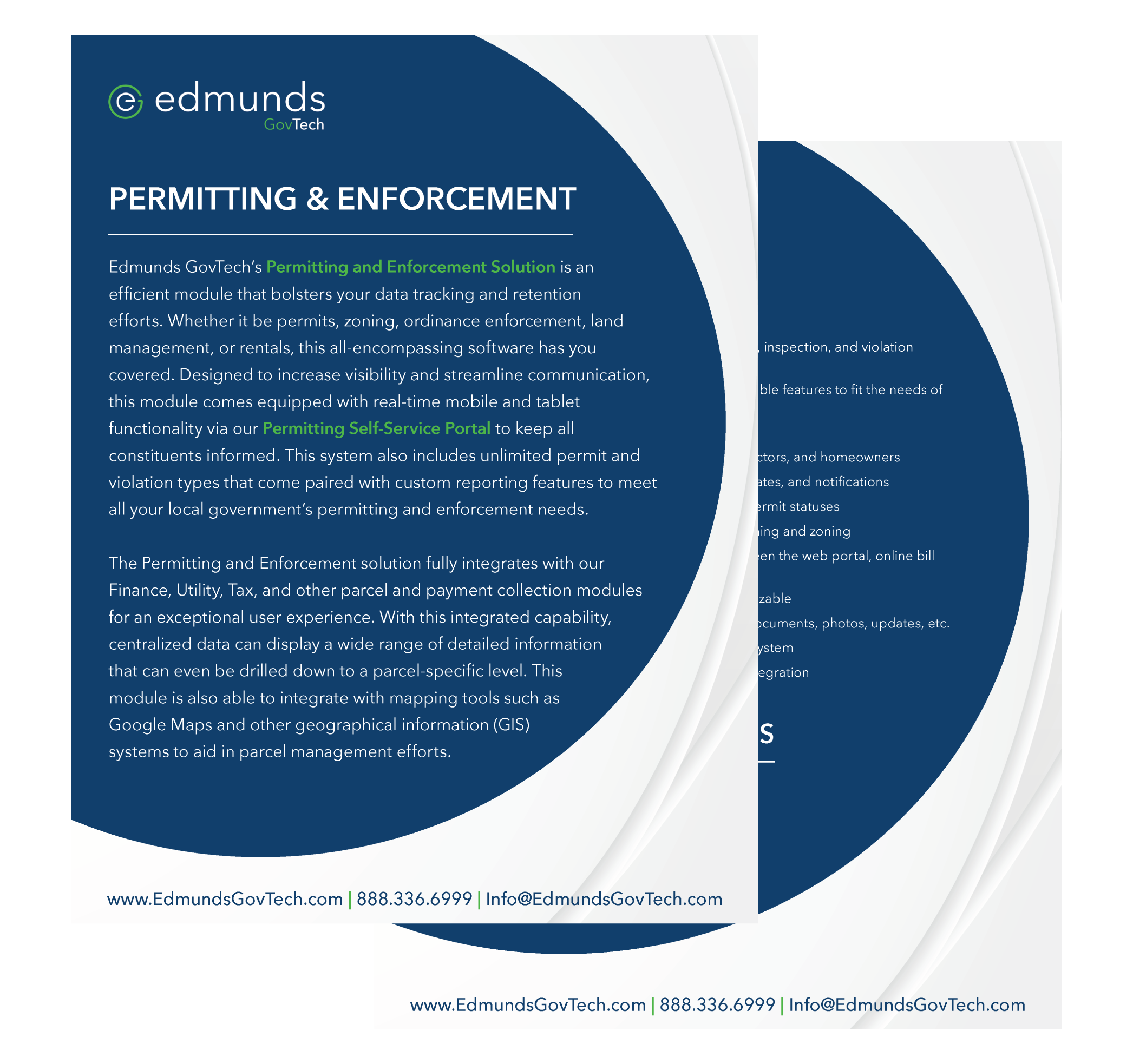 permitting product sheet
