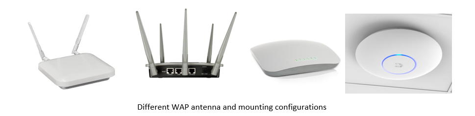 Different WAP Antenna and Mounting Configurations