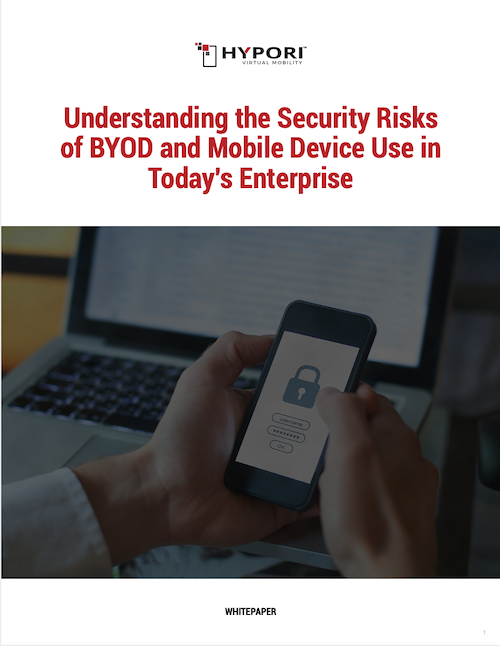 Cover of BYOD security risks whitepaper