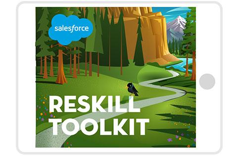 Reskill Toolkit on tablet computer